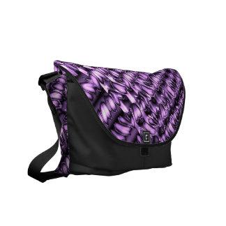 Pisadas púrpuras bolsas messenger
