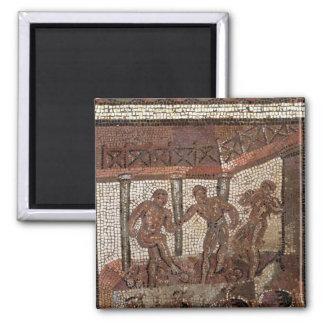 Pisando las uvas, de Santo-Romano-en-Galón Imán Cuadrado