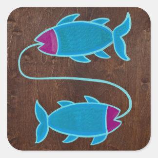 Pisces 2008 square sticker
