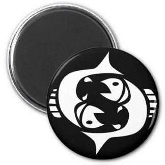 pisces 2 inch round magnet