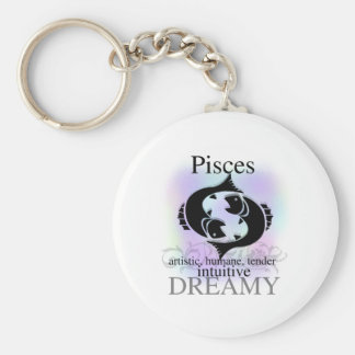 Pisces About You Basic Round Button Keychain