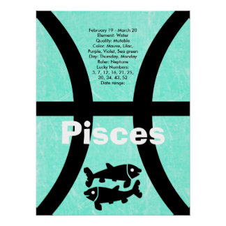 Pisces Astrological Horoscope Zodiac Sign Poster