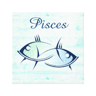 Pisces Astrological Horoscope Zodiac Sign Wall Art