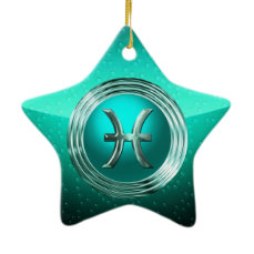 Pisces Astrological Sign Ceramic Ornament
