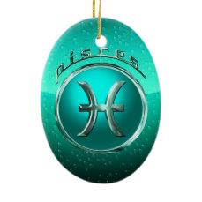 Pisces Astrological Sign Ceramic Ornament