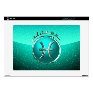 """Pisces Astrological Sign Decals For 15"""" Laptops"""