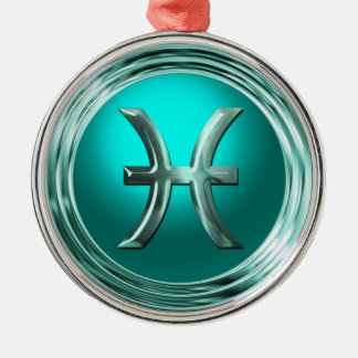 Pisces Astrological Sign Metal Ornament