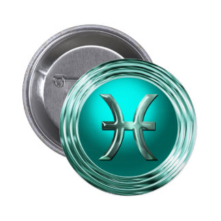 Pisces Astrological Sign Pinback Button