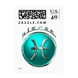 Pisces Astrological Sign Stamp