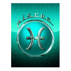 Pisces Astrological Sign Postcard