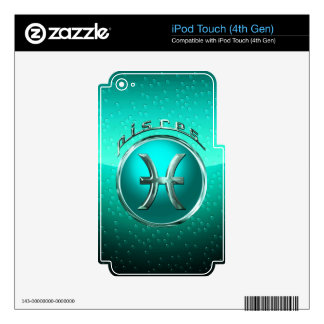 Pisces Astrological Sign Skin For iPod Touch 4G
