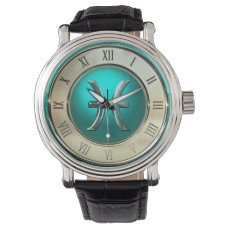 Pisces Astrological Sign Wristwatch