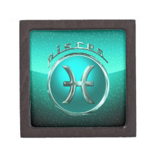 Pisces Astrological Symbol Gift Box