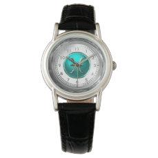 Pisces Astrological Symbol Wristwatch