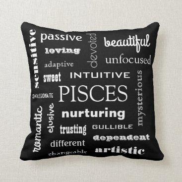 Beach Themed Pisces Astrological Throw Pillow