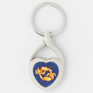 Pisces Astrological Zodiac Sign Keychain