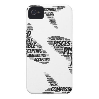 Pisces Astrology Zodiac Sign Word Cloud iPhone 4 Case