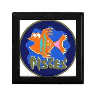 Pisces Badge Jewelry Box