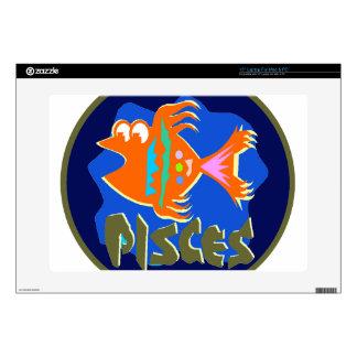 Pisces Badge Laptop Skin