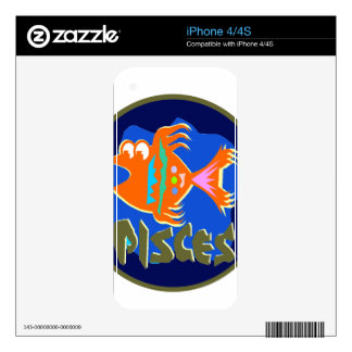 Pisces Badge Skin For The iPhone 4S