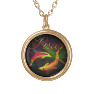 PISCES, BEAUTIFUL NECKLACE ON GOLD CHAIN
