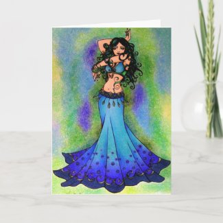 Pisces Belly Dancer Art Card