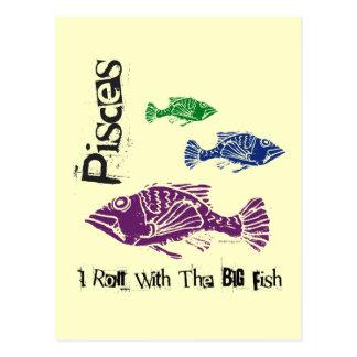 Pisces Big Fish Postcard