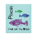 Pisces Big Fish Wrapped Canvas Art Print Gallery Wrap Canvas