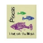 Pisces Big Fish Wrapped Canvas Art Print (Mod) Stretched Canvas Prints
