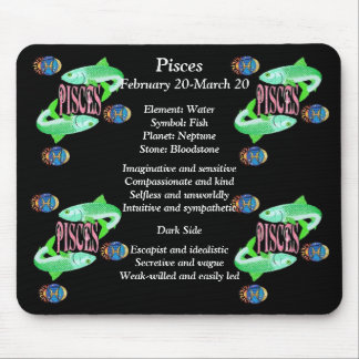 Pisces Birth Sign Zodiac Mouse Pad