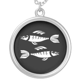 Pisces Black and White Necklace