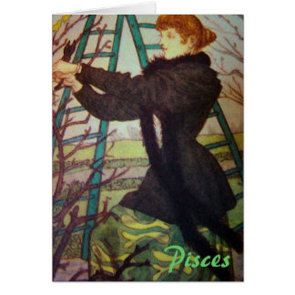 """""""Pisces"""" Blank Astrology Sign Card Greeting Cards"""