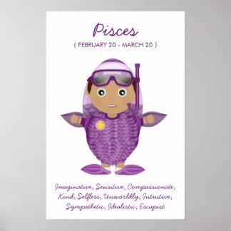 Pisces - Boy Horoscope Poster