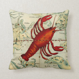 Pisces Cancer Fish Lobster Sea Astrology Astronomy Throw Pillow