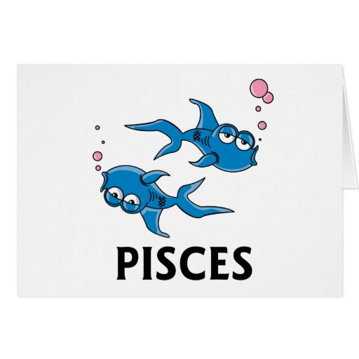 Pisces Cartoon Greeting Card