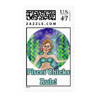 Pisces Chicks Postage