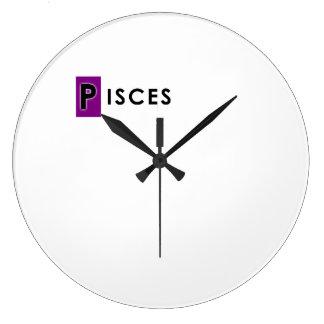 PISCES COLOR LARGE CLOCK