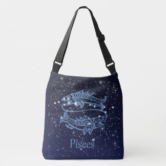 Pisces Constellation and Zodiac Sign with Stars Tote Bag