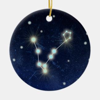 Pisces Constellation | Custom Name Ceramic Ornament