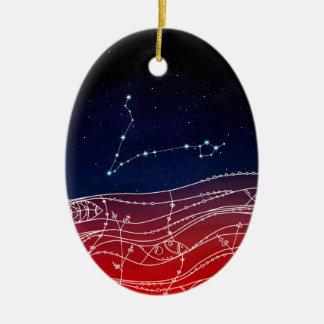 Pisces Constellation Design Ceramic Ornament