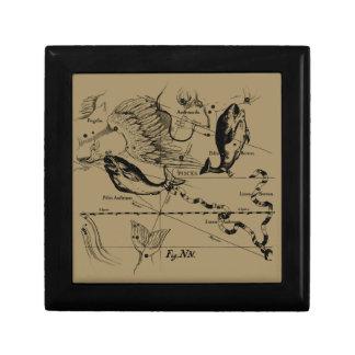 Pisces Constellation Hevelius 1690 Decor Gift Box