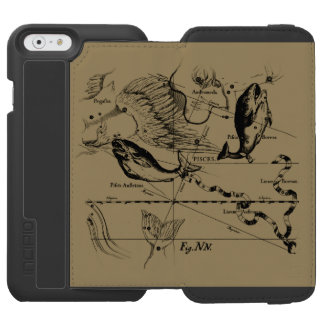 Pisces Constellation Hevelius 1690 Feb19 -March 20 iPhone 6/6s Wallet Case