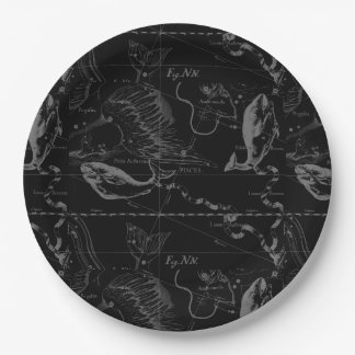 Pisces Constellation Hevelius 1690 Feb19 -March 20 Paper Plate