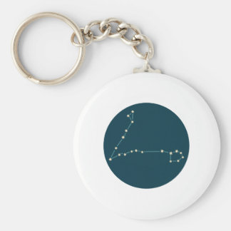 Pisces Constellation Basic Round Button Keychain