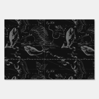 Pisces Constellation Map by Hevelius 1690 Yard Sign