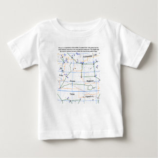 Pisces Constellation Map Chart Baby T-Shirt