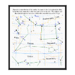 Pisces Constellation Map Chart Gallery Wrap Canvas