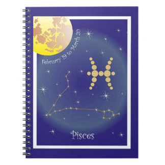 Pisces February 19 tons of March 20 note booklet Spiral Notebook