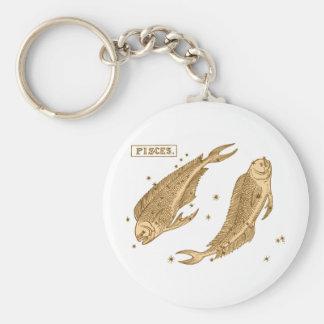 Pisces - Fisch Basic Round Button Keychain