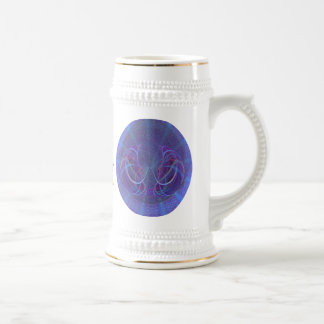 Pisces Fish Abstract Art Beer Stein
